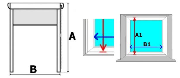 Jak správně změřit okno pro vybrání rolety?