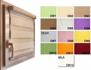 Roleta Den Noc Mini DN1 - zelená látka 43 x 150